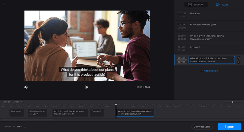 add subtitles to video free online