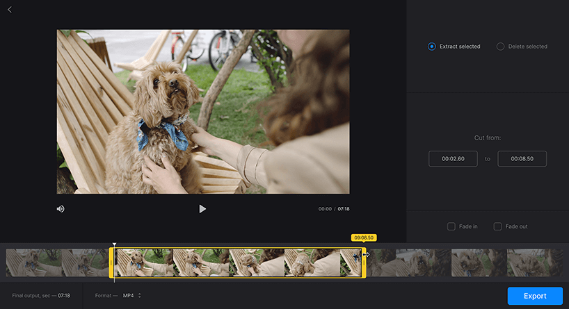 Trim your videos with Online Video Cutter — Clideo