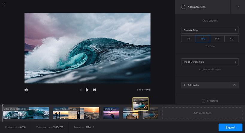 online photo slideshow video maker free