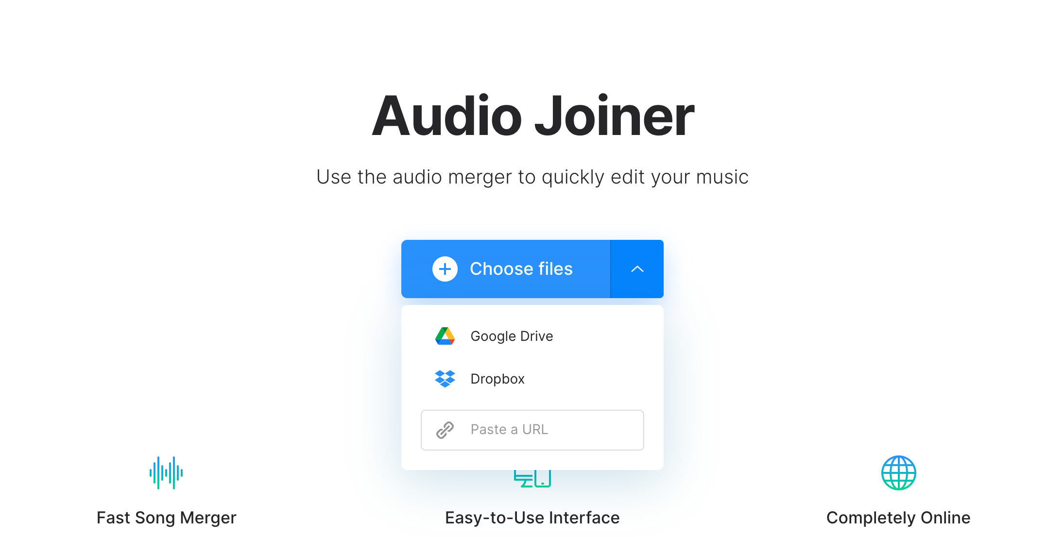 Upload audio to crossfade