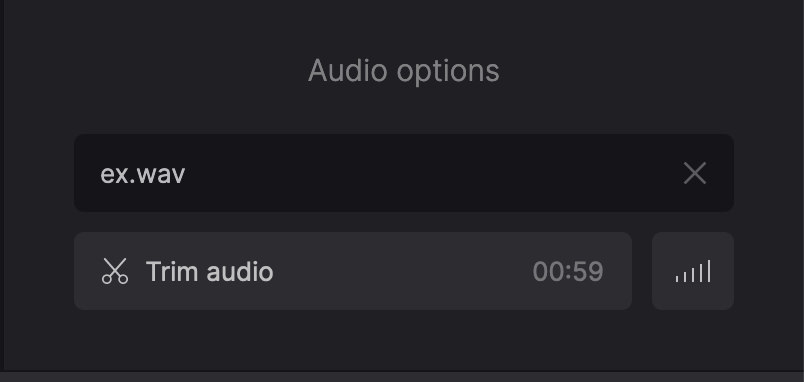 Add audio to GIF