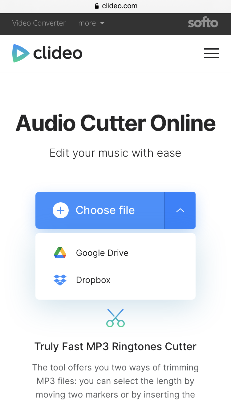 Upload song to make custom ringtone on Android
