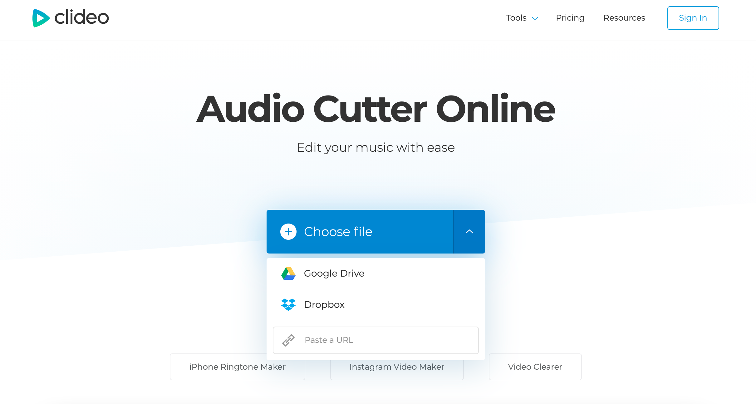 Upload an audio to make a ringtone online
