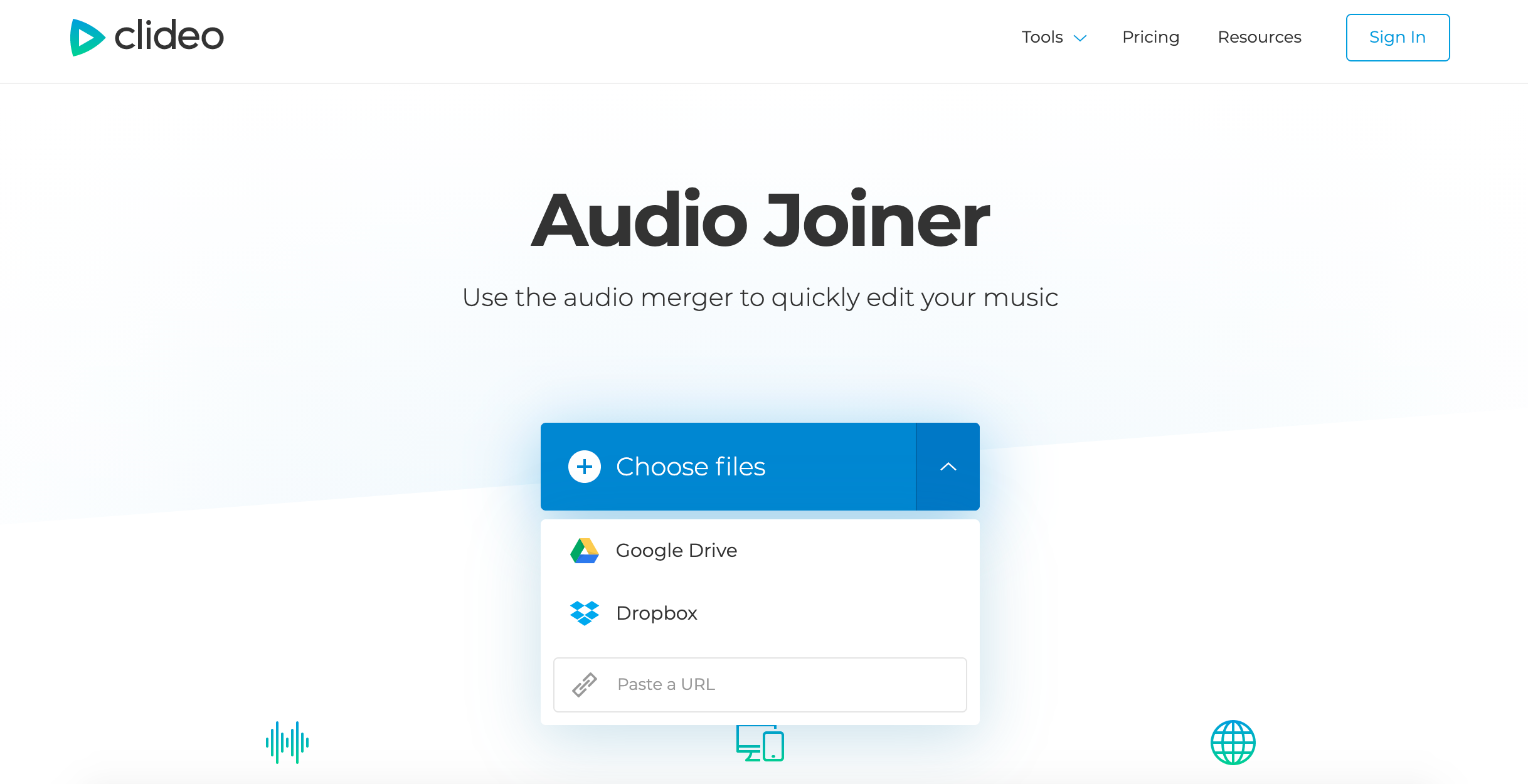 Add an MP3 or other audio files to combine