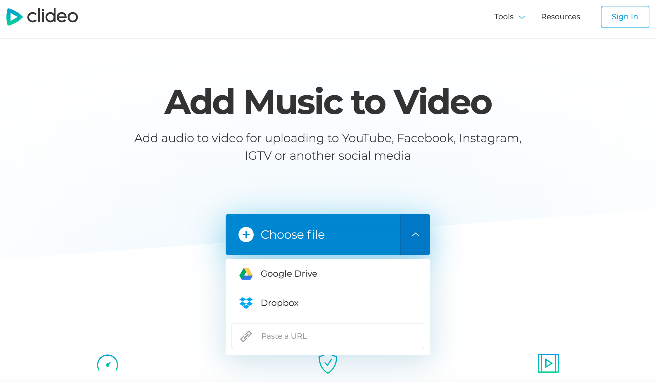 Upload a video you want to add audio to