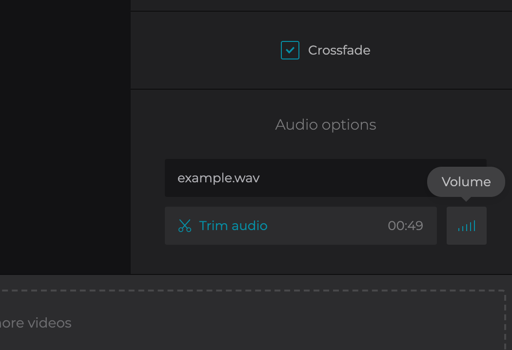 Add audio to the created YouTube video
