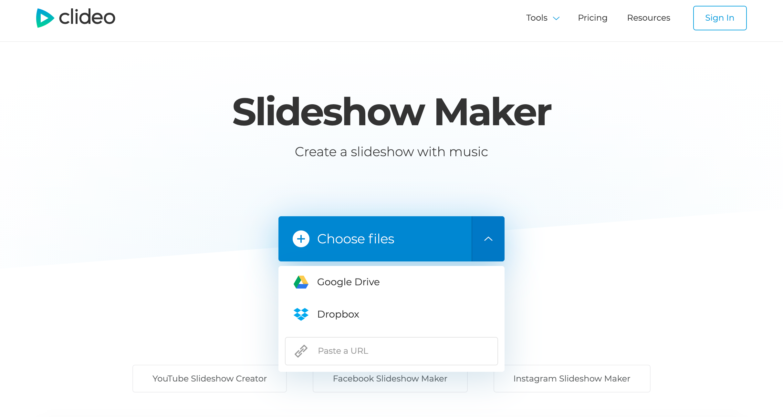 Add files to create slideshow on Mac
