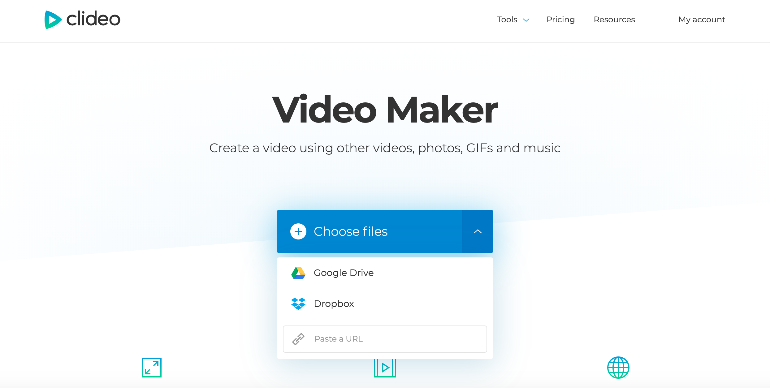 Upload files to make a video for Instagram