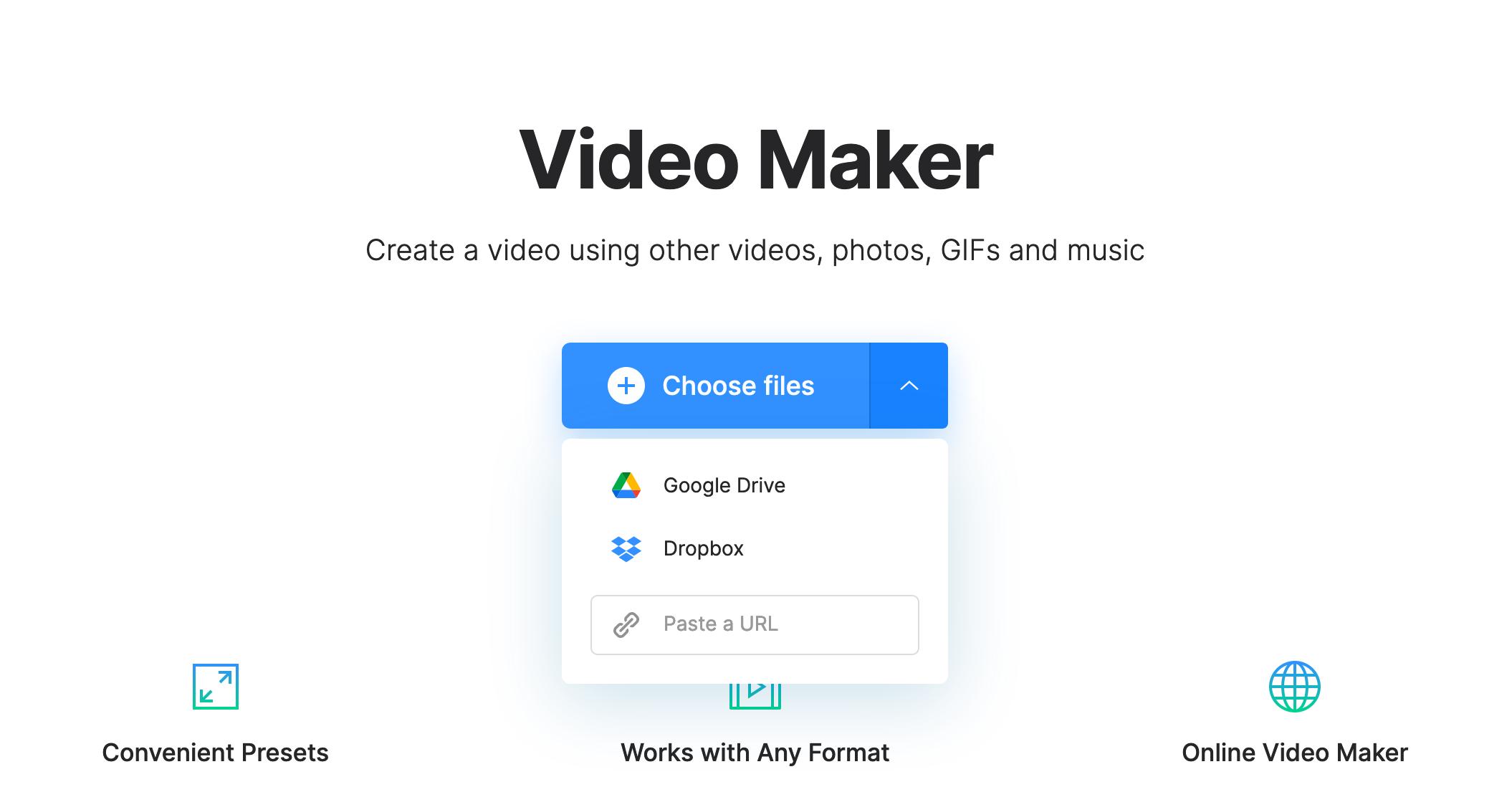 Upload GIF to add audio