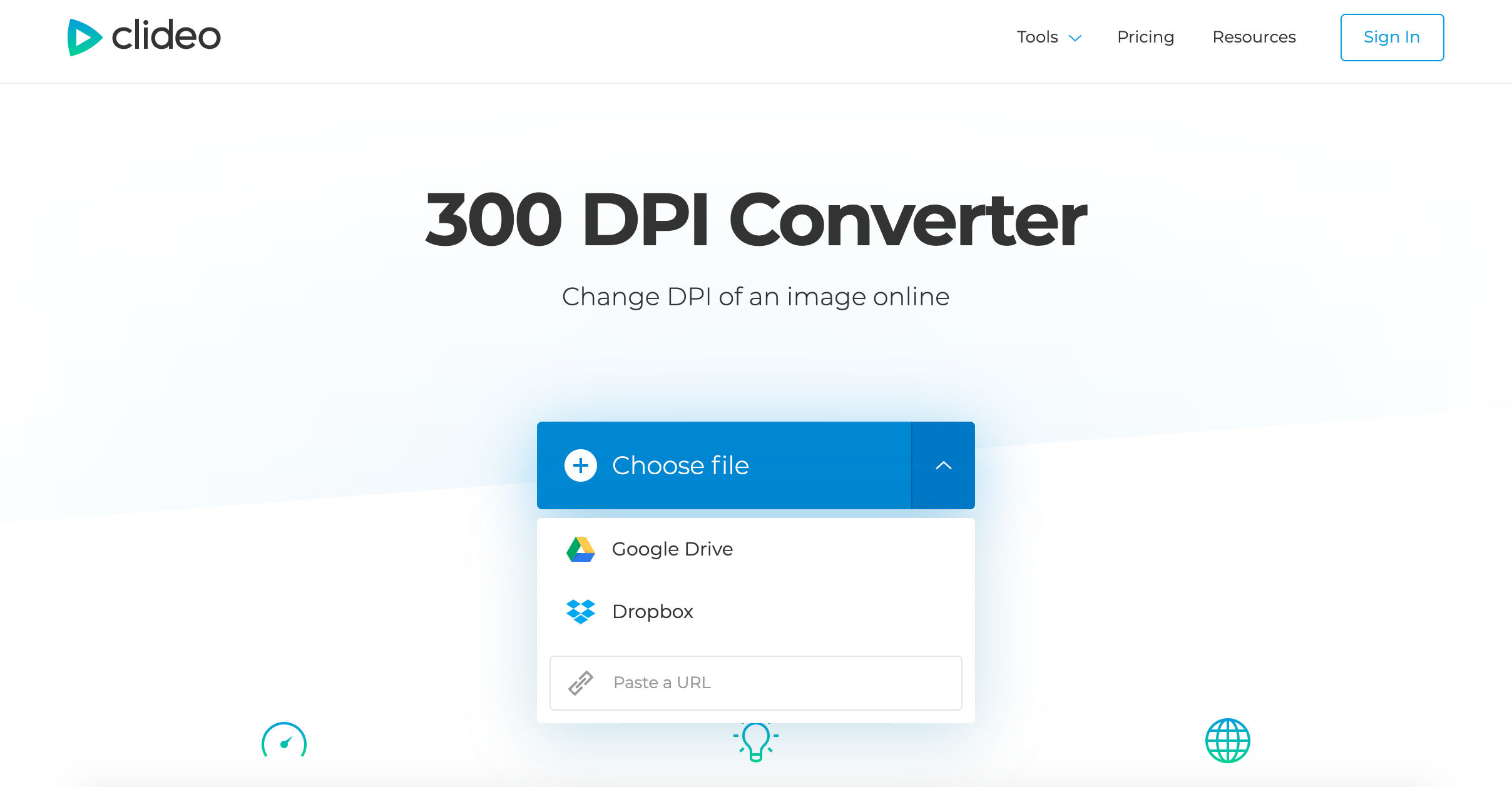 Upload image to convert to 300 DPI
