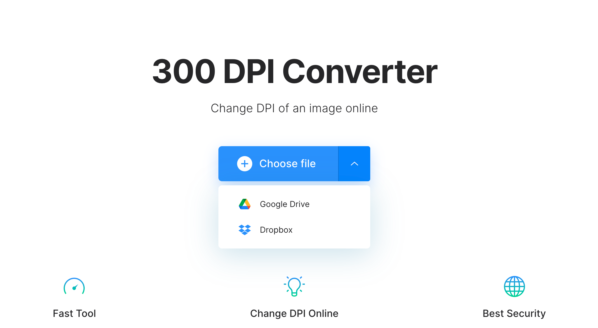 Upload picture to convert to 300 or 600 DPI