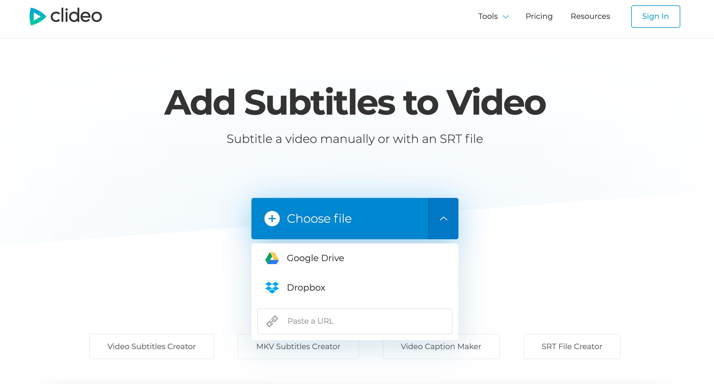 Upload MKV to add subtitles
