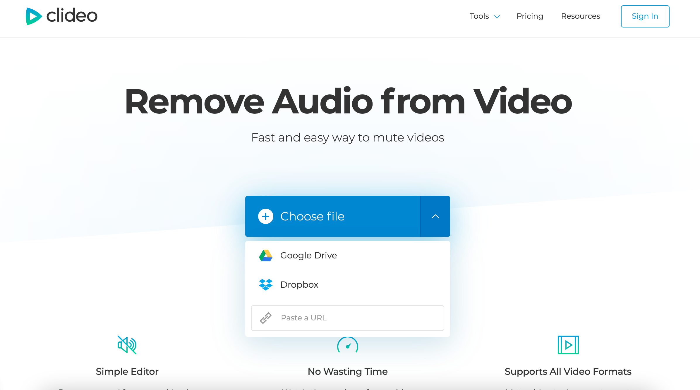 Upload MKV to remove audio from it