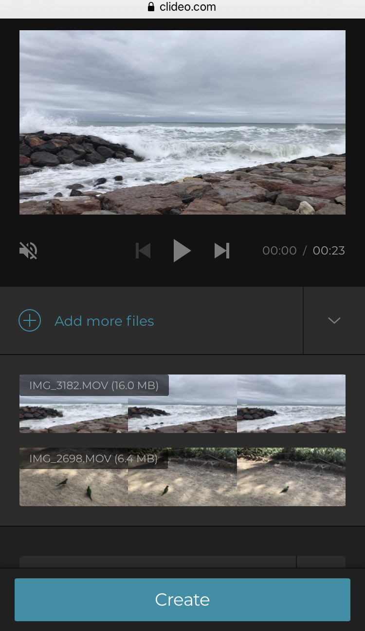 Add more files to the iPhone video if needed