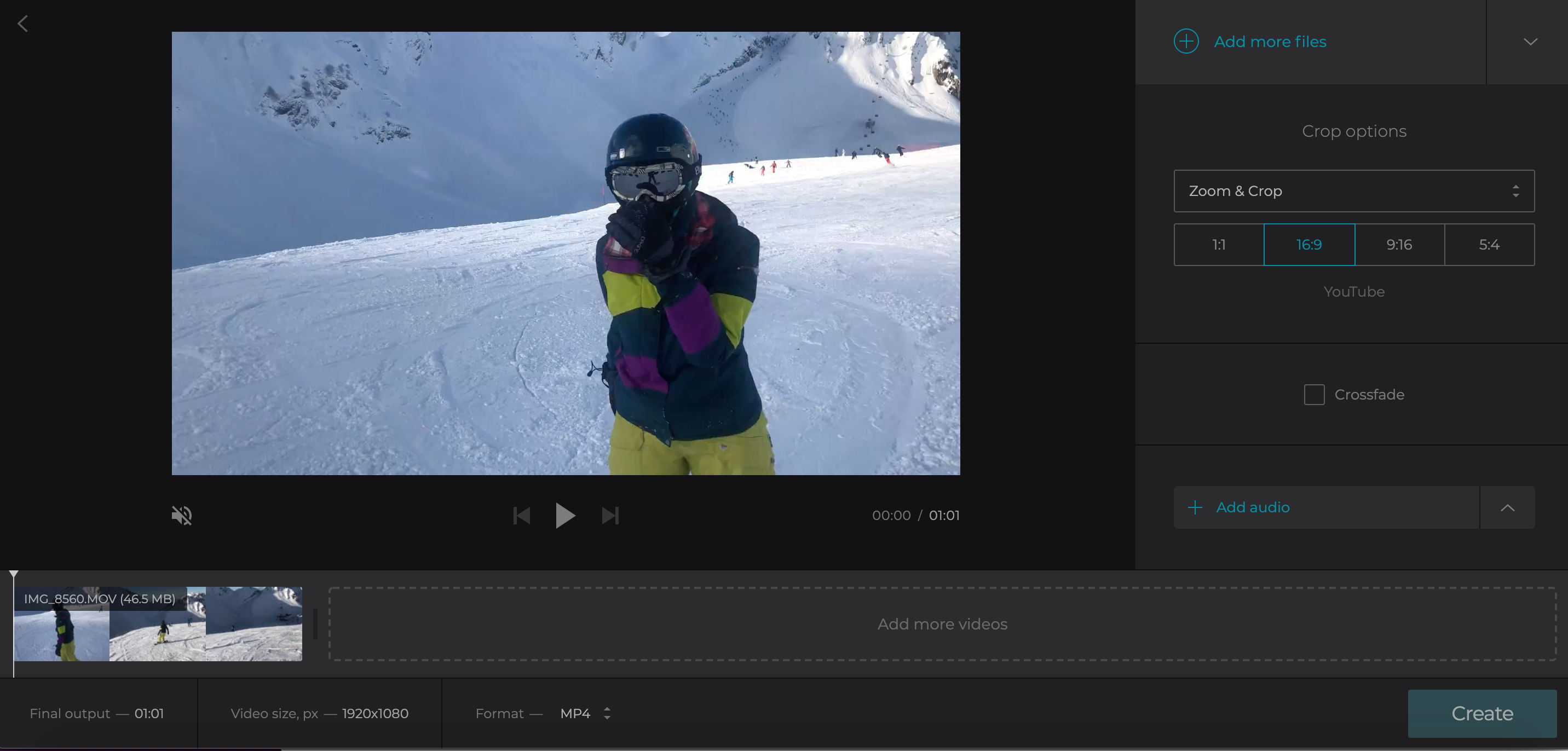 Upload more images to create video image sequence