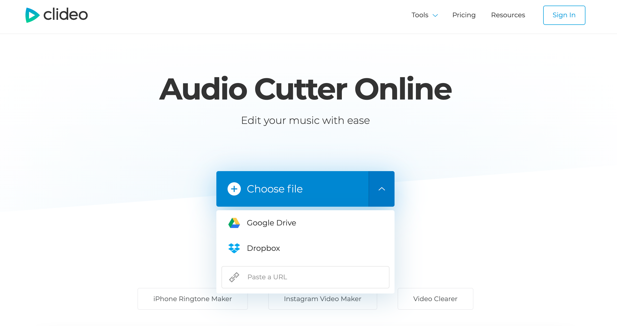 Upload MOV to extract audio from