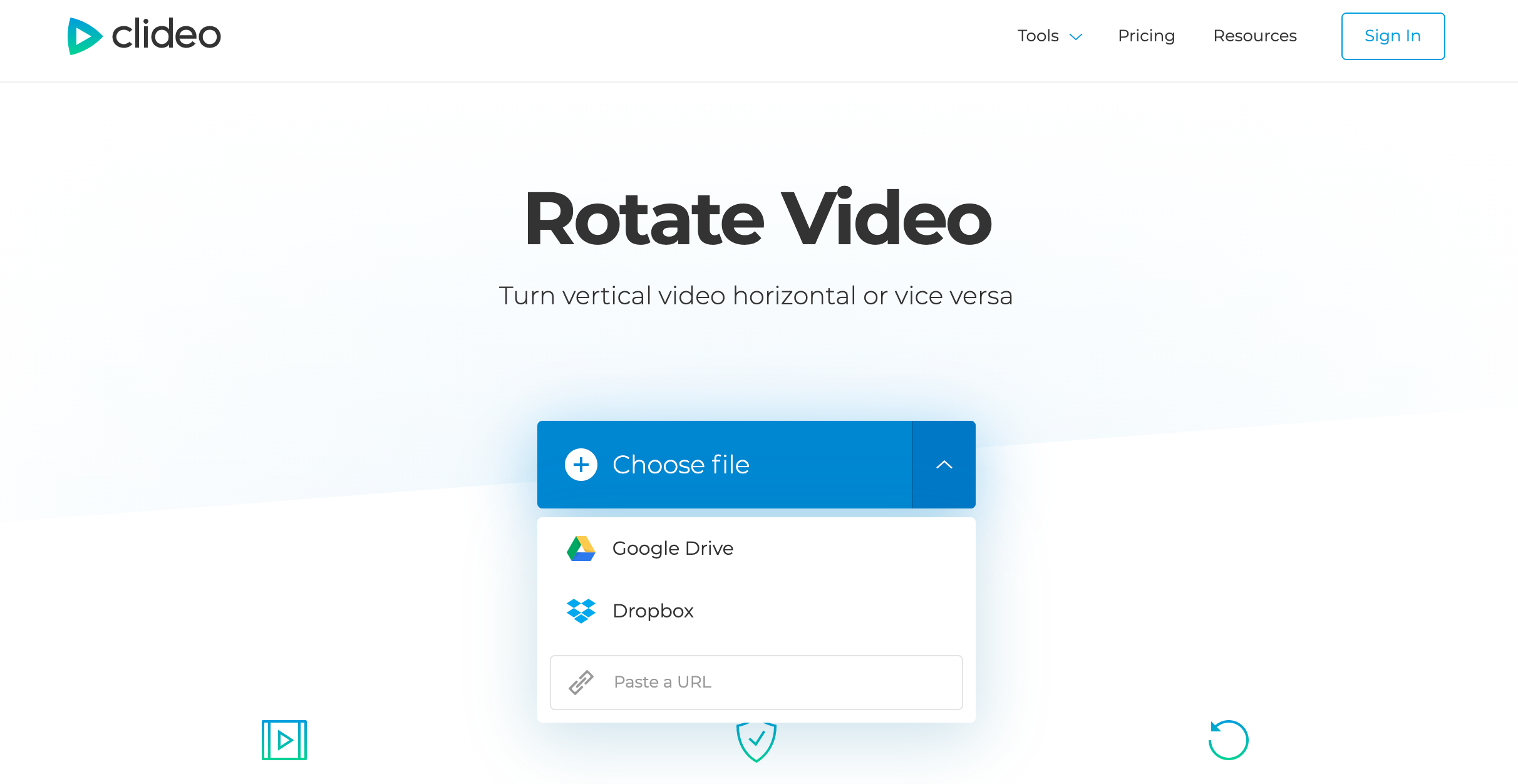 Upload MOV to rotate