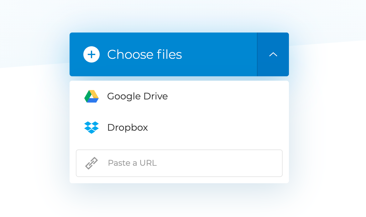 Upload MTS files to merge