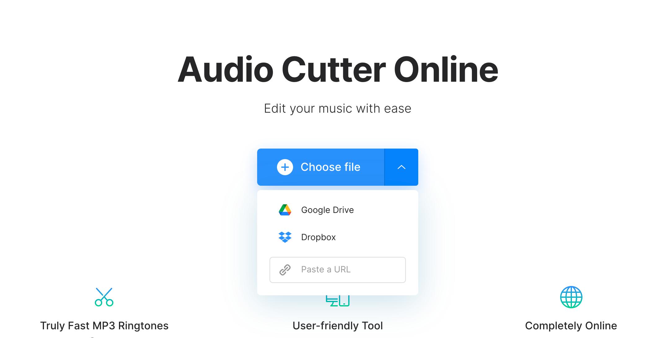Upload ringtone music to cut