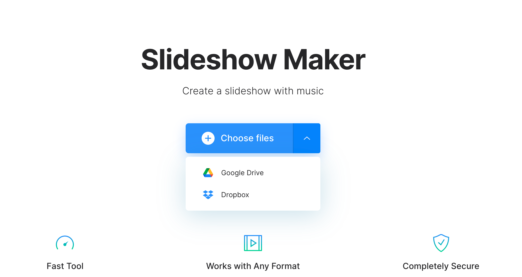 Upload photos to make slideshow on Mac
