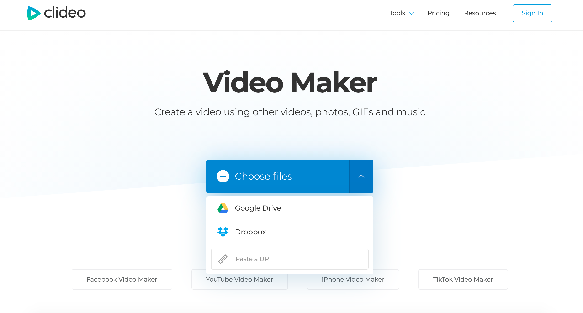Upload your photos to make video