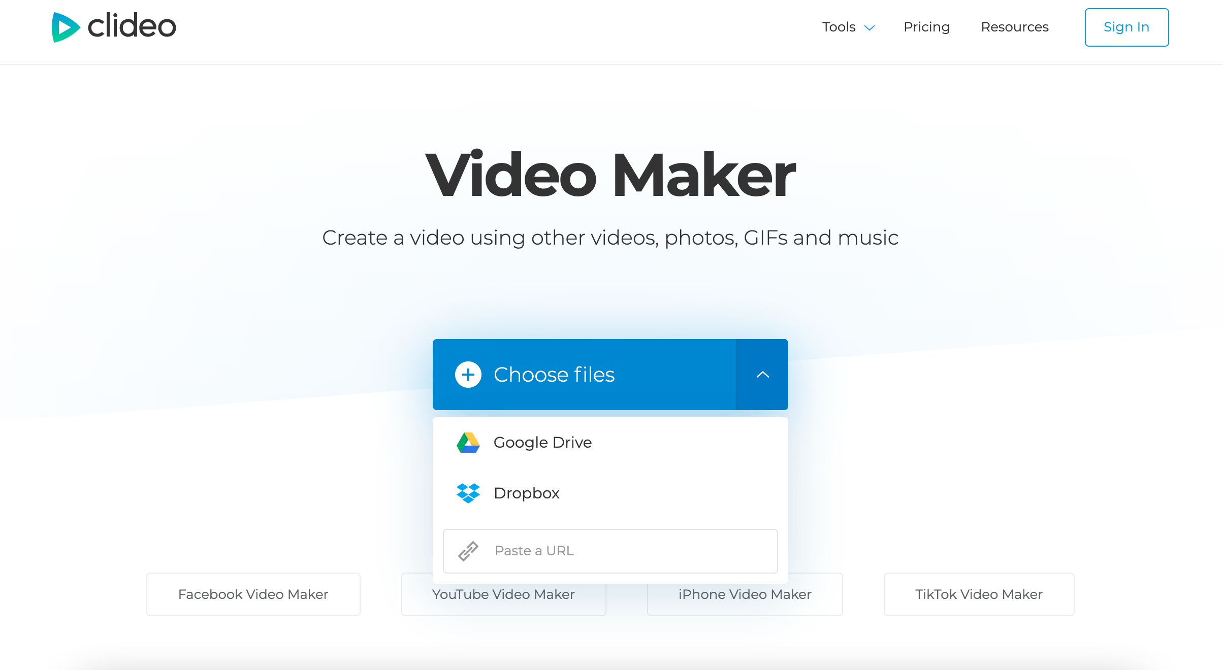 Upload pictures to video