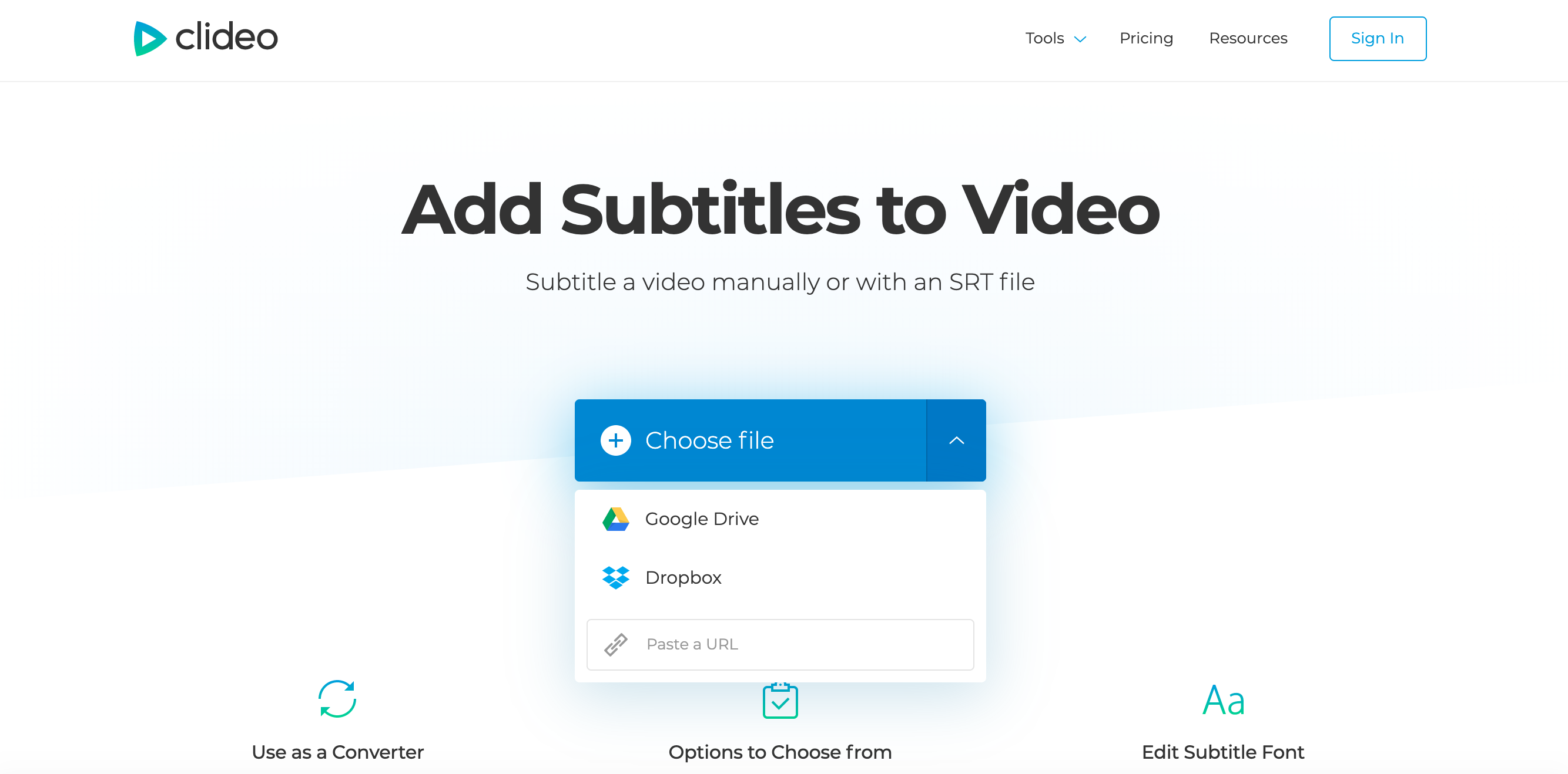 Upload a video to add subtitles