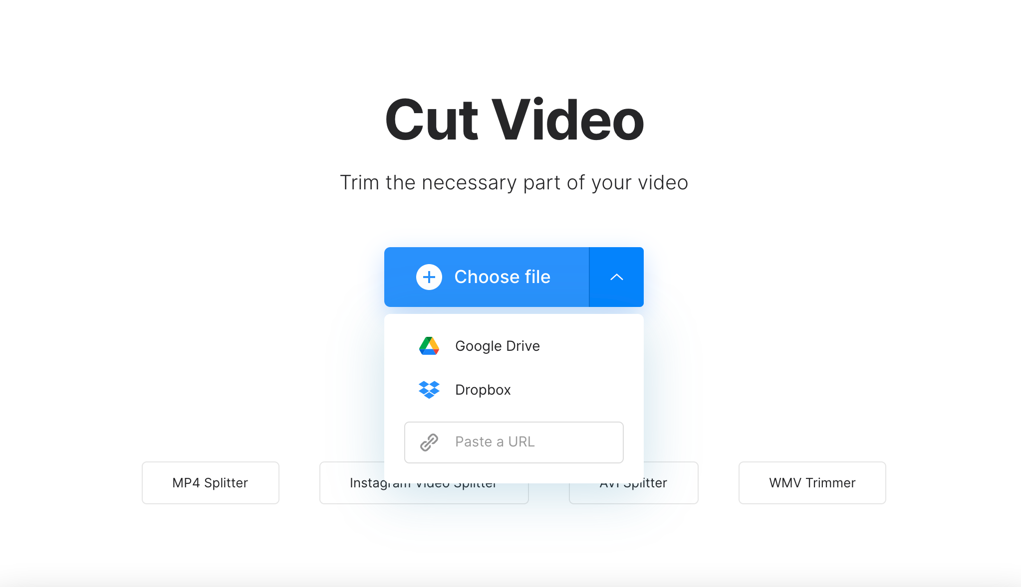 Upload video for fade effect