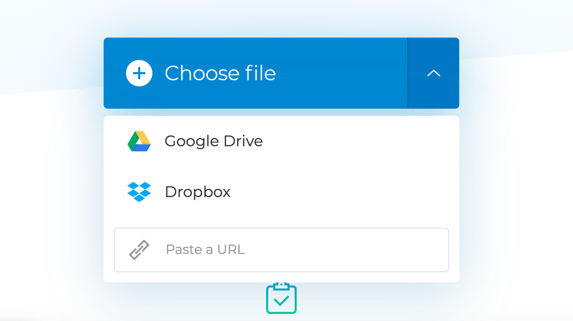 Upload a video you want to add SRT file for