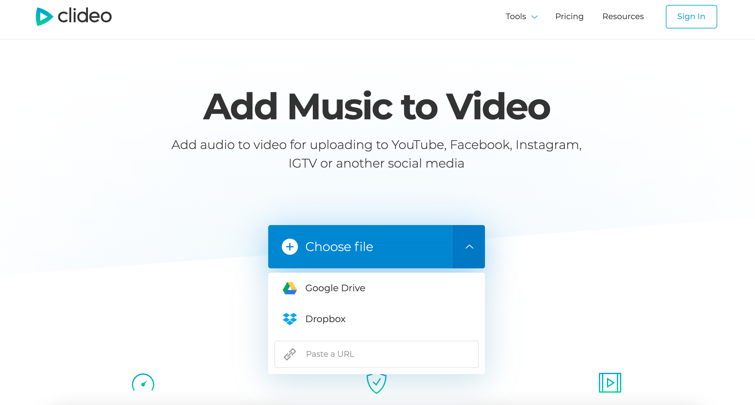 Upload a video to add a voiceover