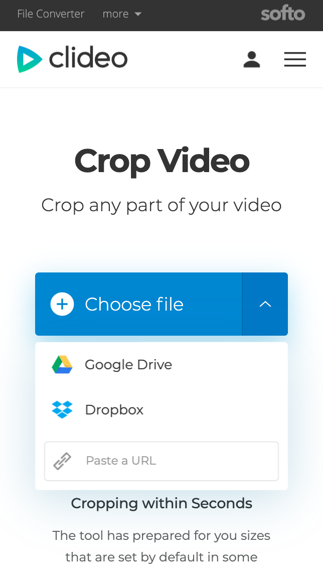 Add a video to crop from cloud storage on Android