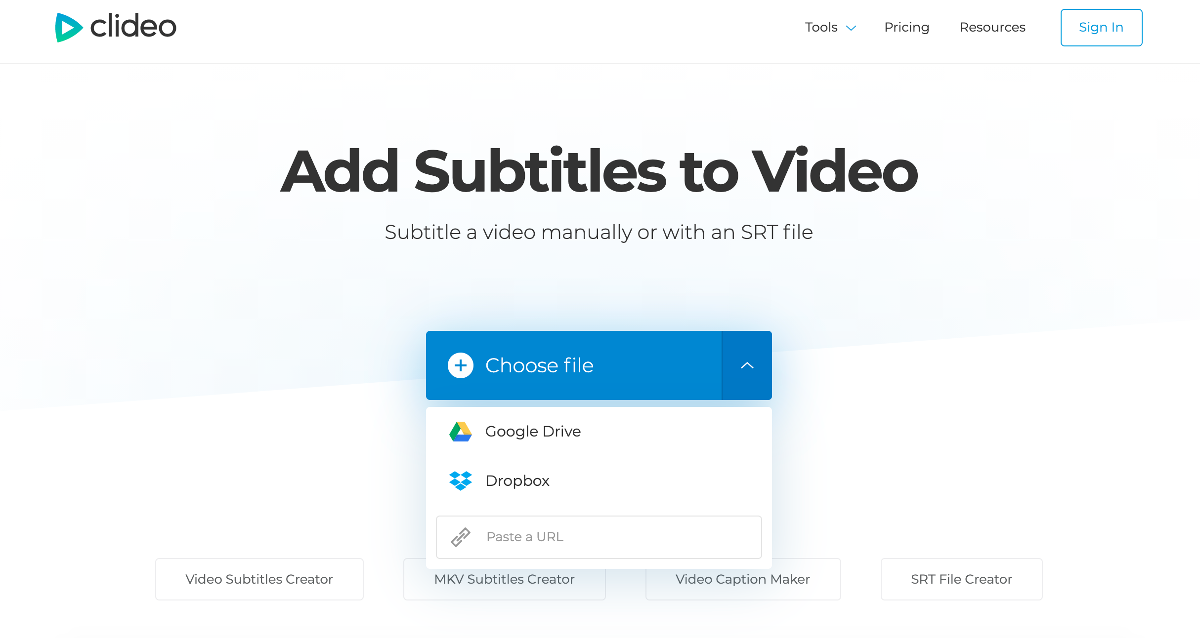 Upload video to add subtitles on Mac