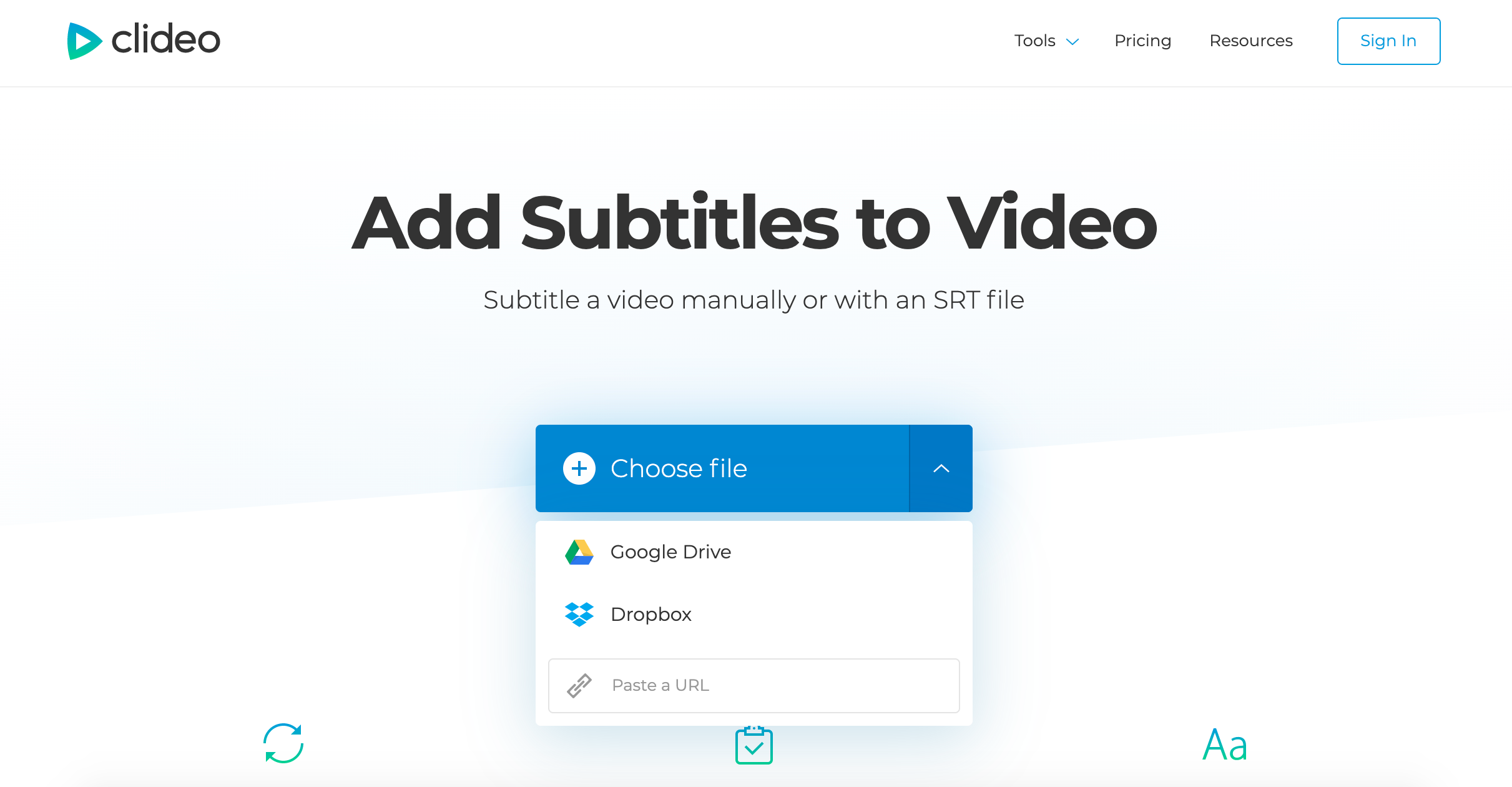 Upload a video for subtitles