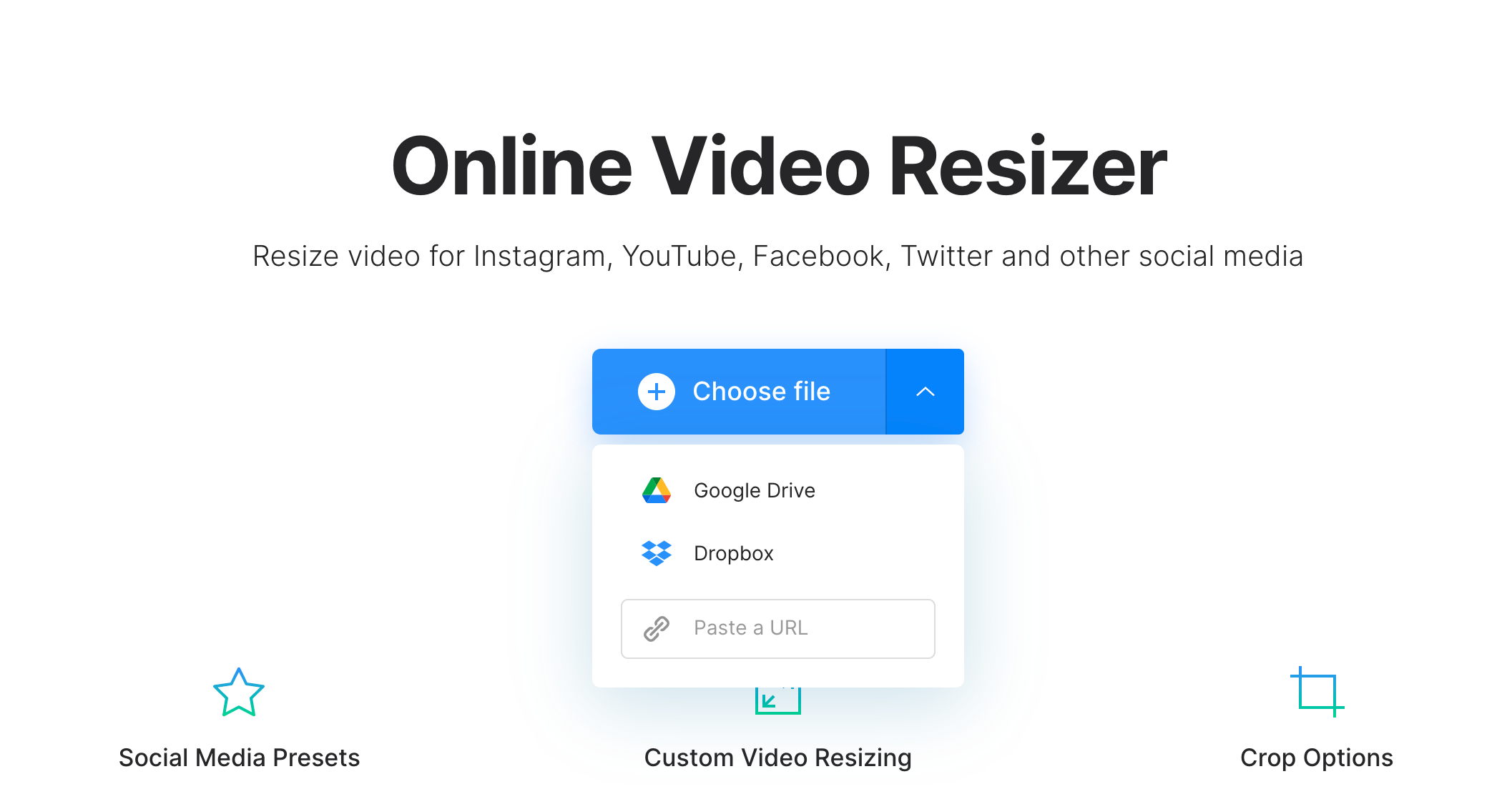 Upload video to change native or supported resolution