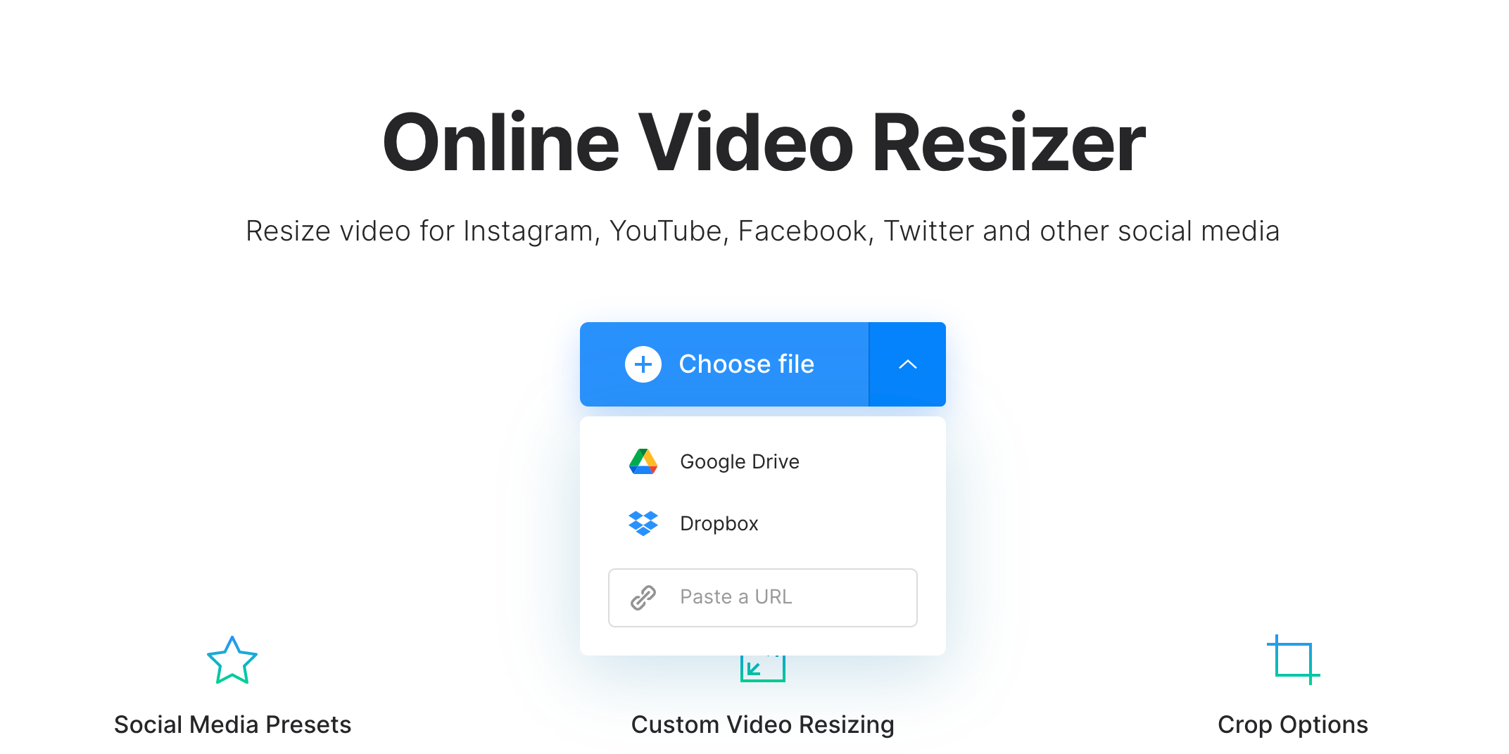 Upload video to change native resolution
