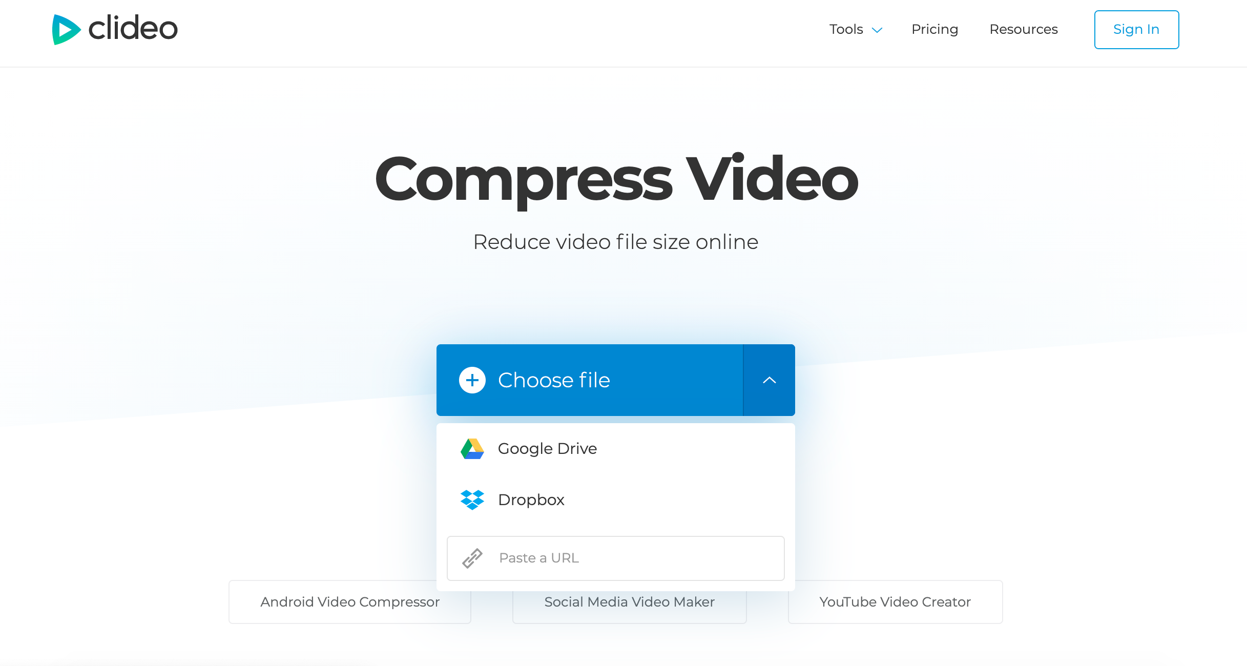Add video to compress on Mac