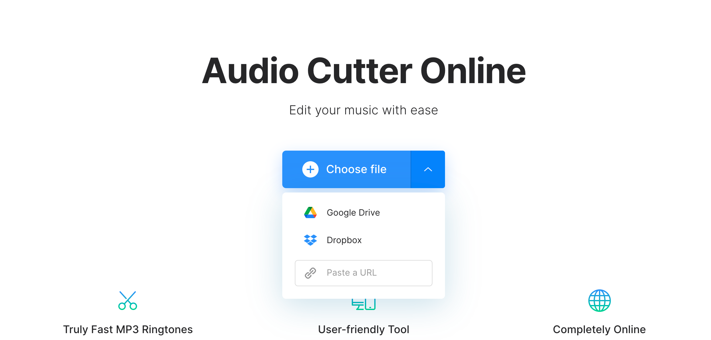 Upload video to convert to audio