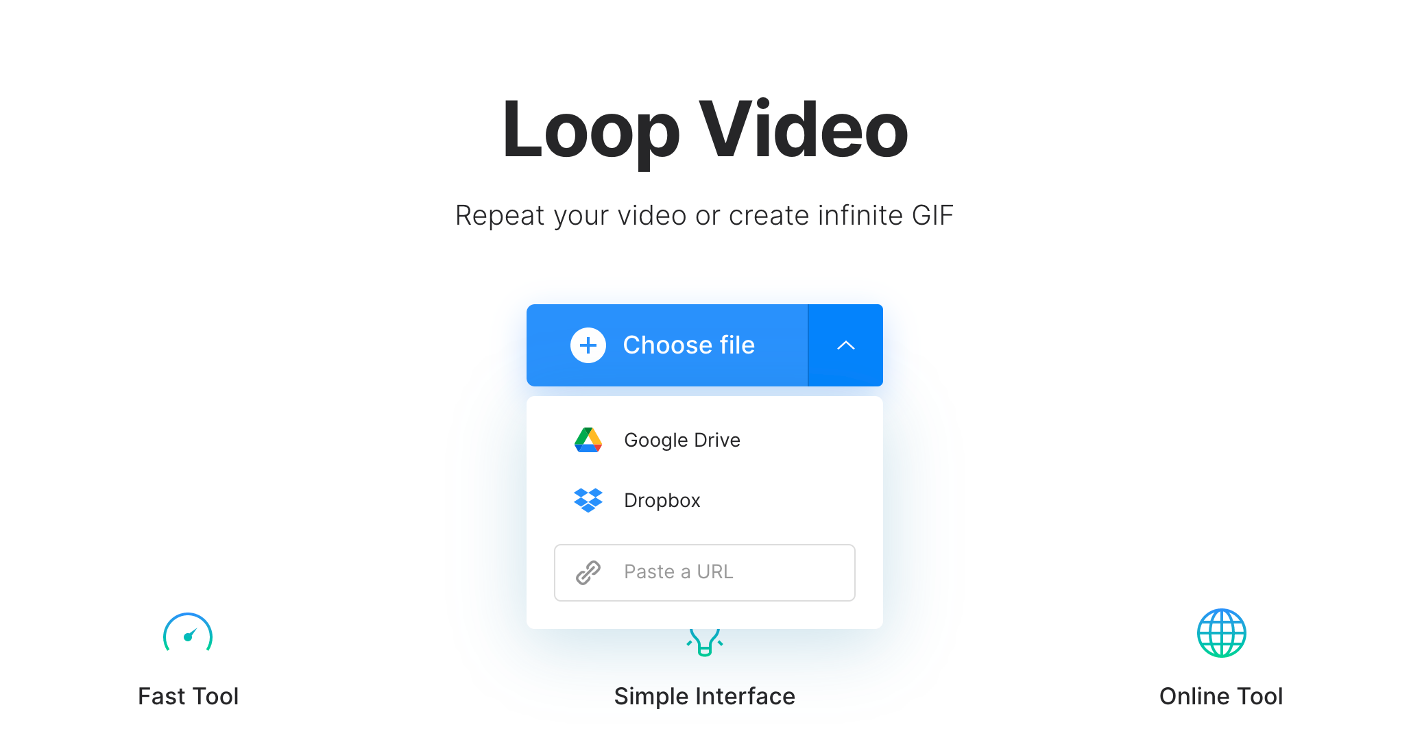 Upload a video to create a GIF