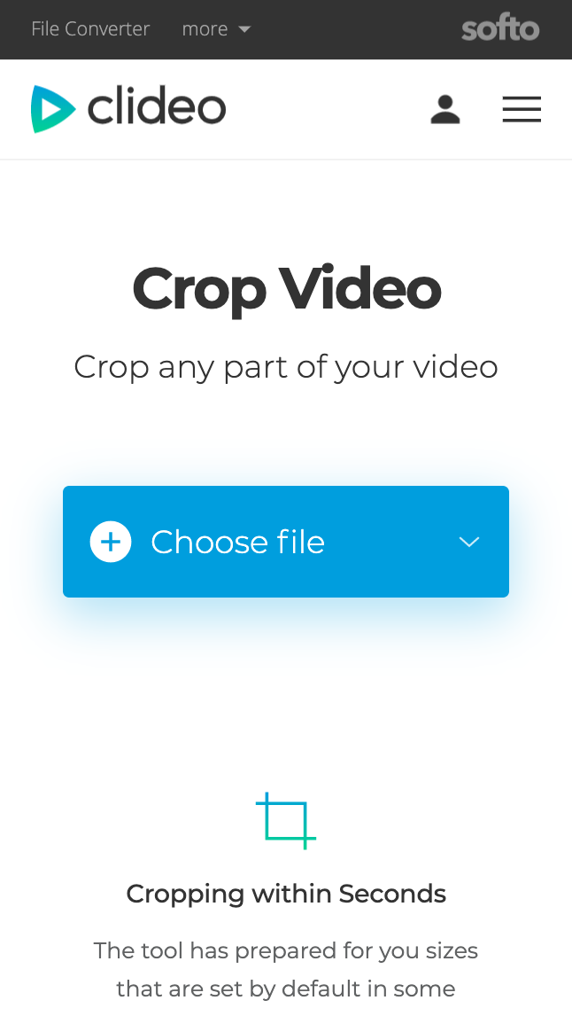 Upload a video you want to crop on Android