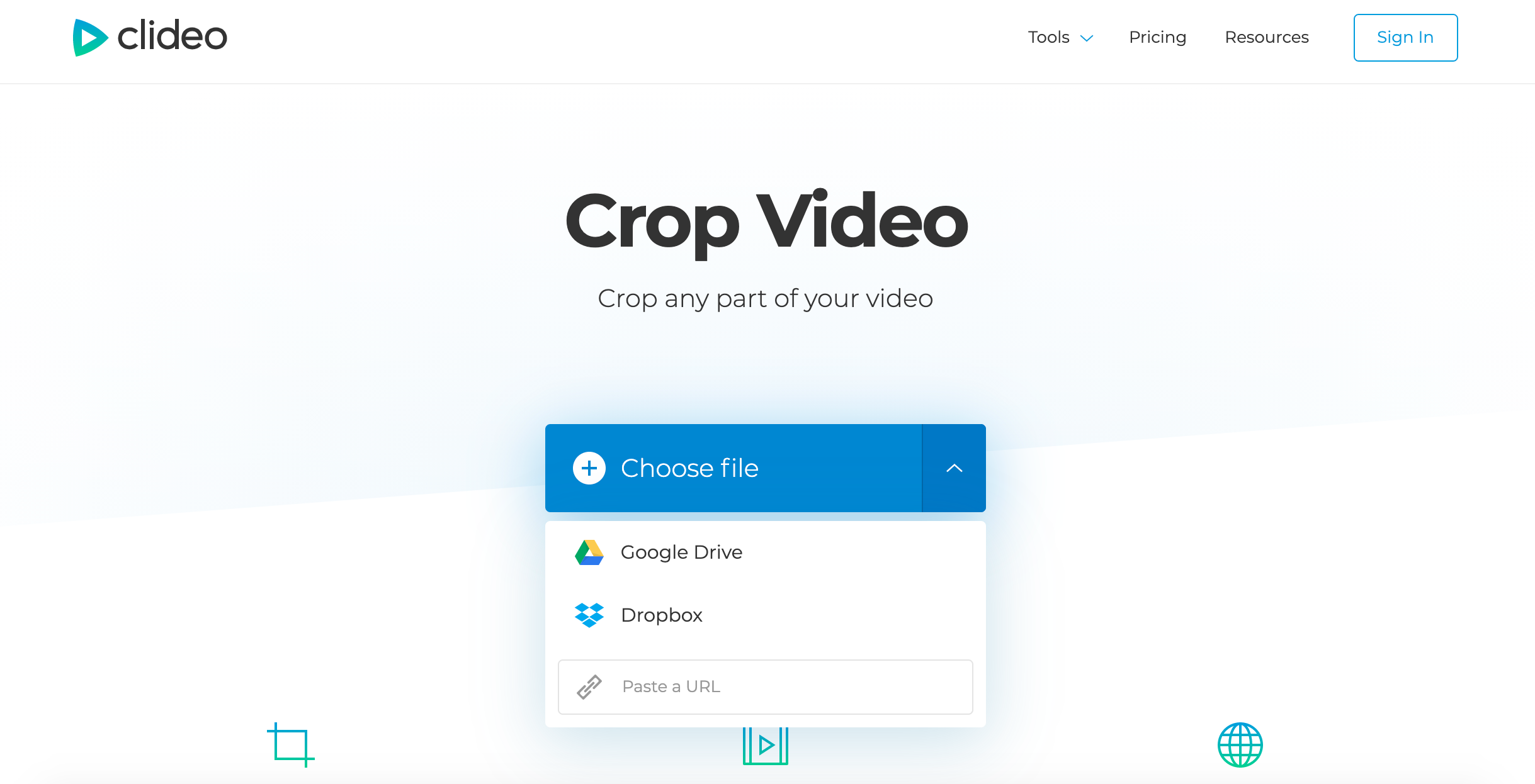Open a video you want to crop from any device