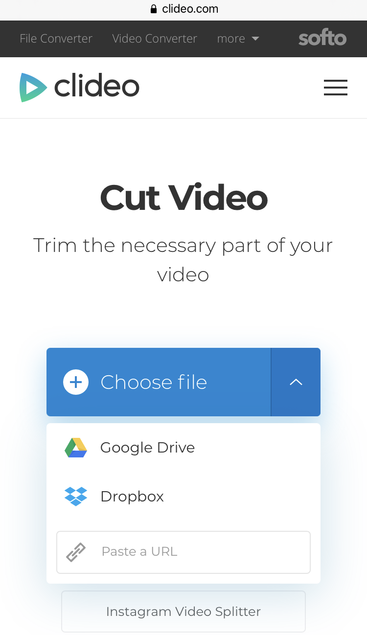 Upload iPhone video to cut out part