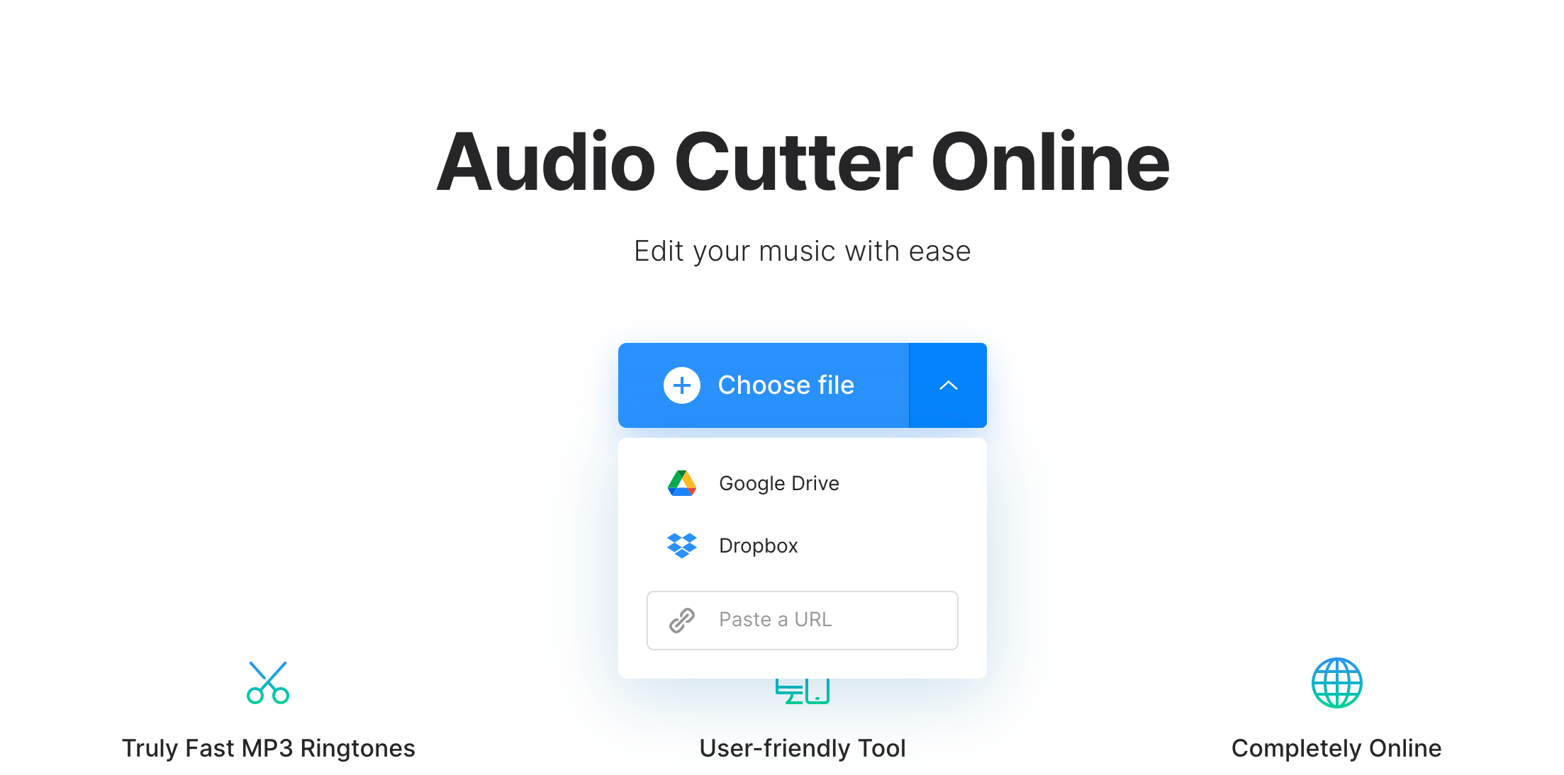 Upload video to extract audio