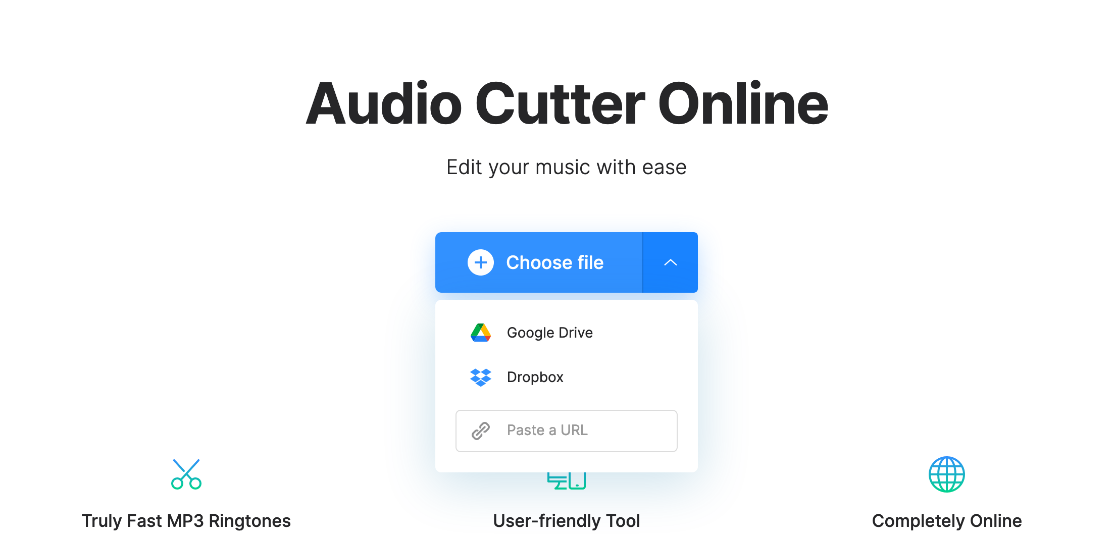 Upload video to extract audio on Mac