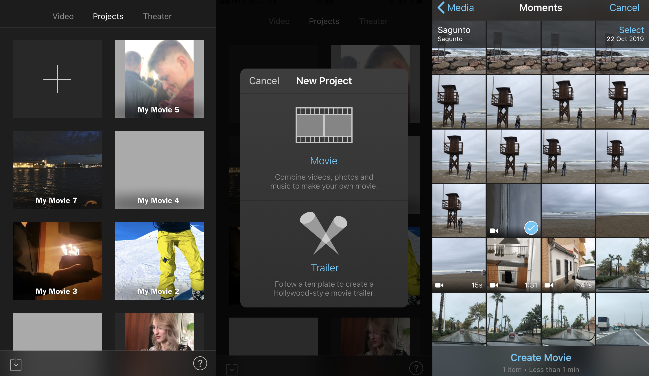 Import a video to iMovie on your iPhone