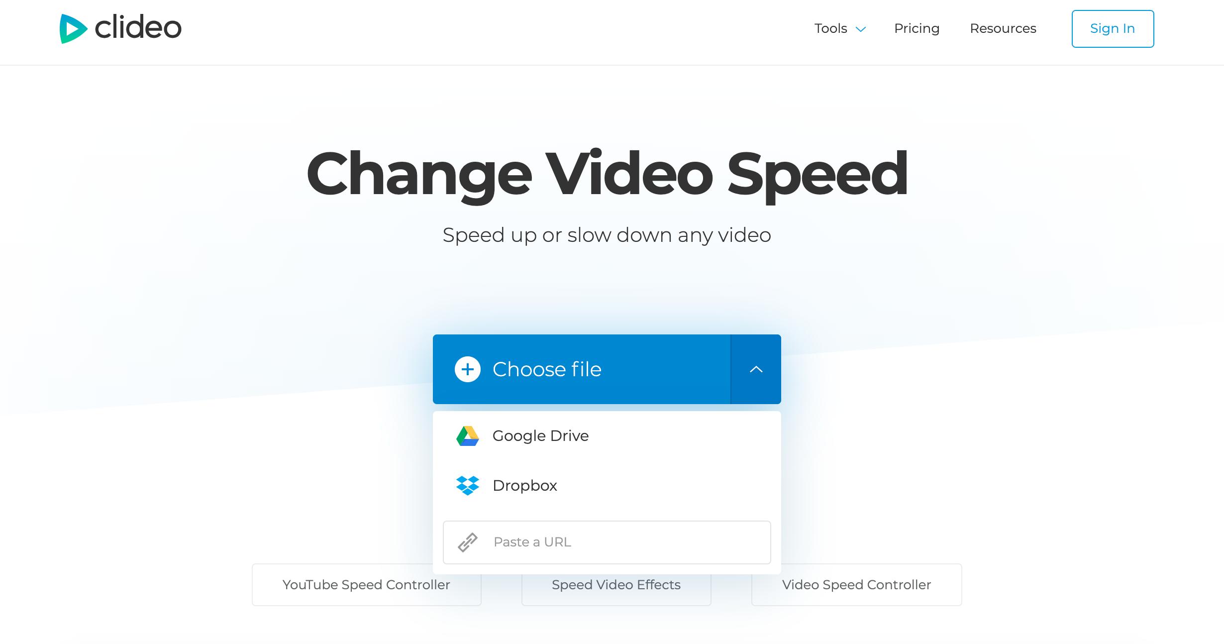 Upload video to make timelapse