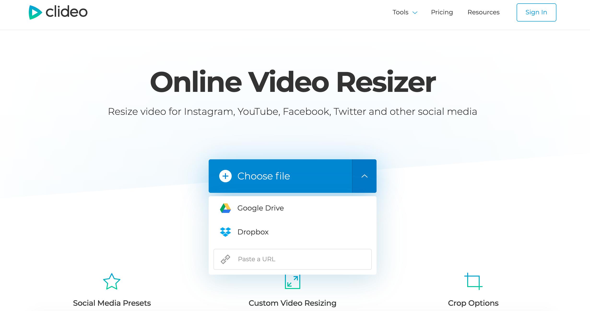 Upload video to remove black bars