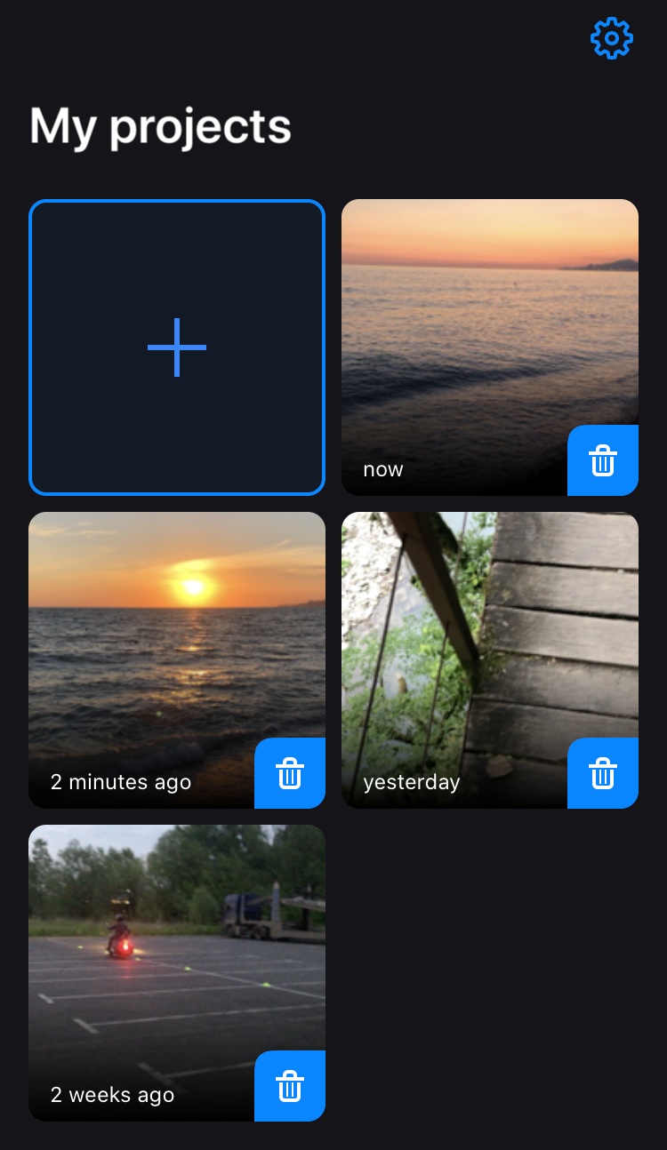 Upload a video to Clideo's resize video app