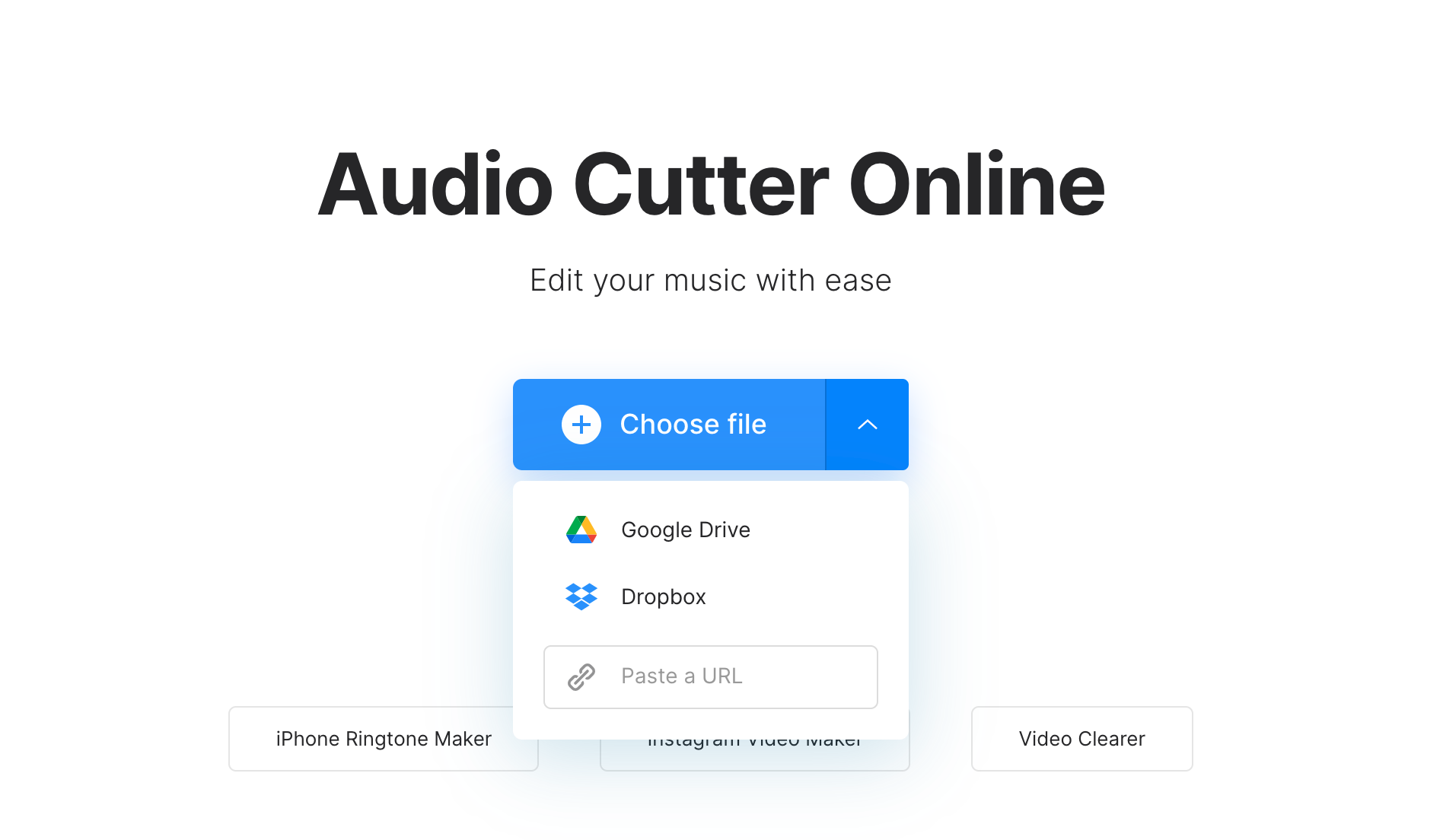 Upload video to separate audio