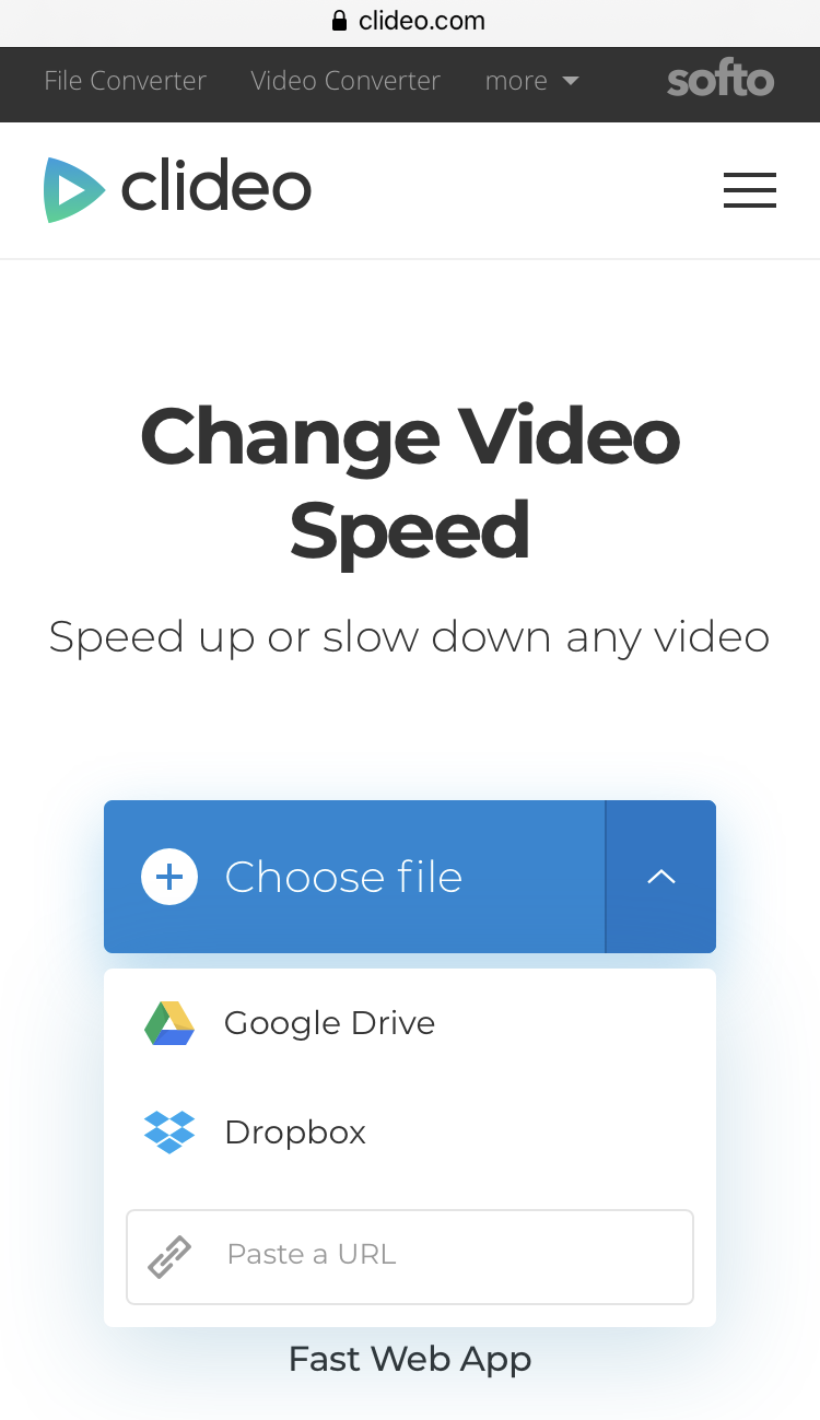 Upload a video to speed it up on Android
