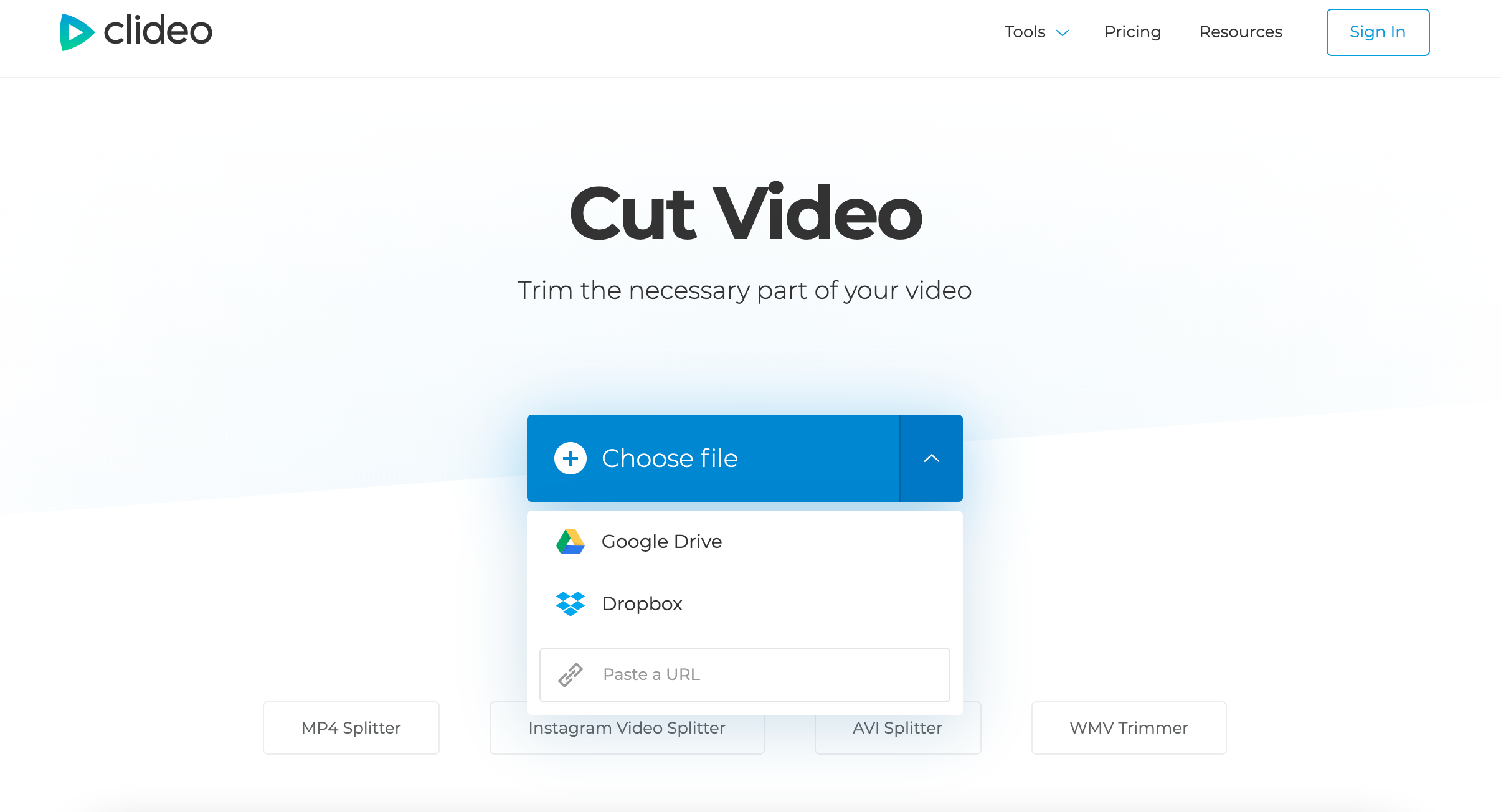 Add a video or URL to the program